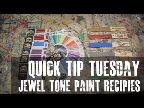 Paint Recipes: Jewel Tones and Neutrals - Quick Tip Tuesday