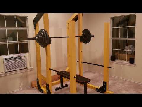 diy home gym power rack selber bauen. Black Bedroom Furniture Sets. Home Design Ideas