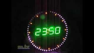 around digit led clock 60 led 160 Led wall clock 03