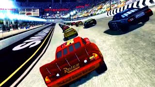 Cars 1 the Videogame 360 - Lightning Mcqueen & Mack Truck VS SMASHERVILLE (Piston Cup Champion)