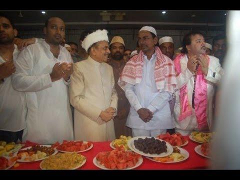 K Chandrashekhar Rao at an Iftar Party with TRS MLC Mahmood Ali