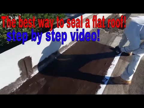 The best way to seal a flat roof permanent ,stop leaks, fix, repair , any flat roof.