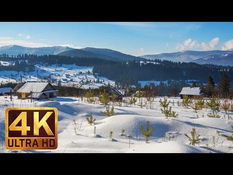 Winter in the Carpathians 2017 | Snowy Winter Scenes 4K Nature Video - Trailer 47