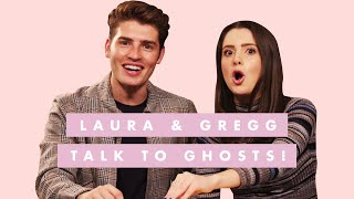 Gregg Sulkin & Laura Marano Can't Handle Talking to Ghosts | Celebs Play Ouija Board | Cosmo