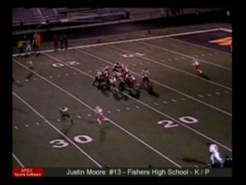 Justin Moore Kicker/Punter Fishers High School 2008 Highlight Video
