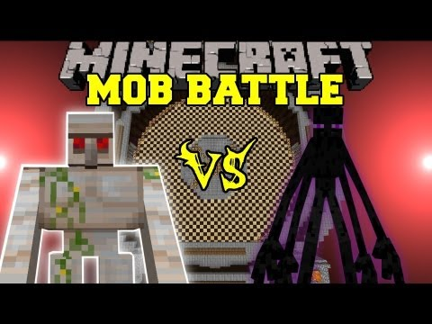 Mutant Enderman Vs. Mutant Iron Golem Minecraft Mob Battles Arena Battles
