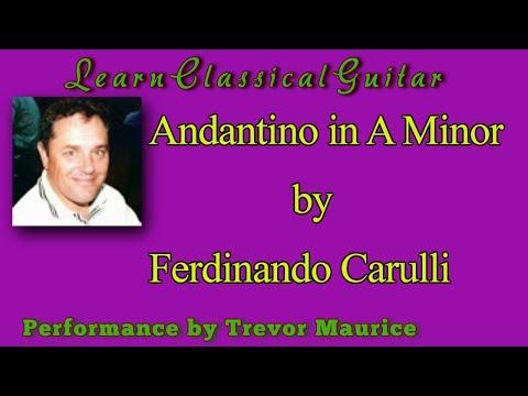 Фердинандо Карулли - Andantino In A Minor
