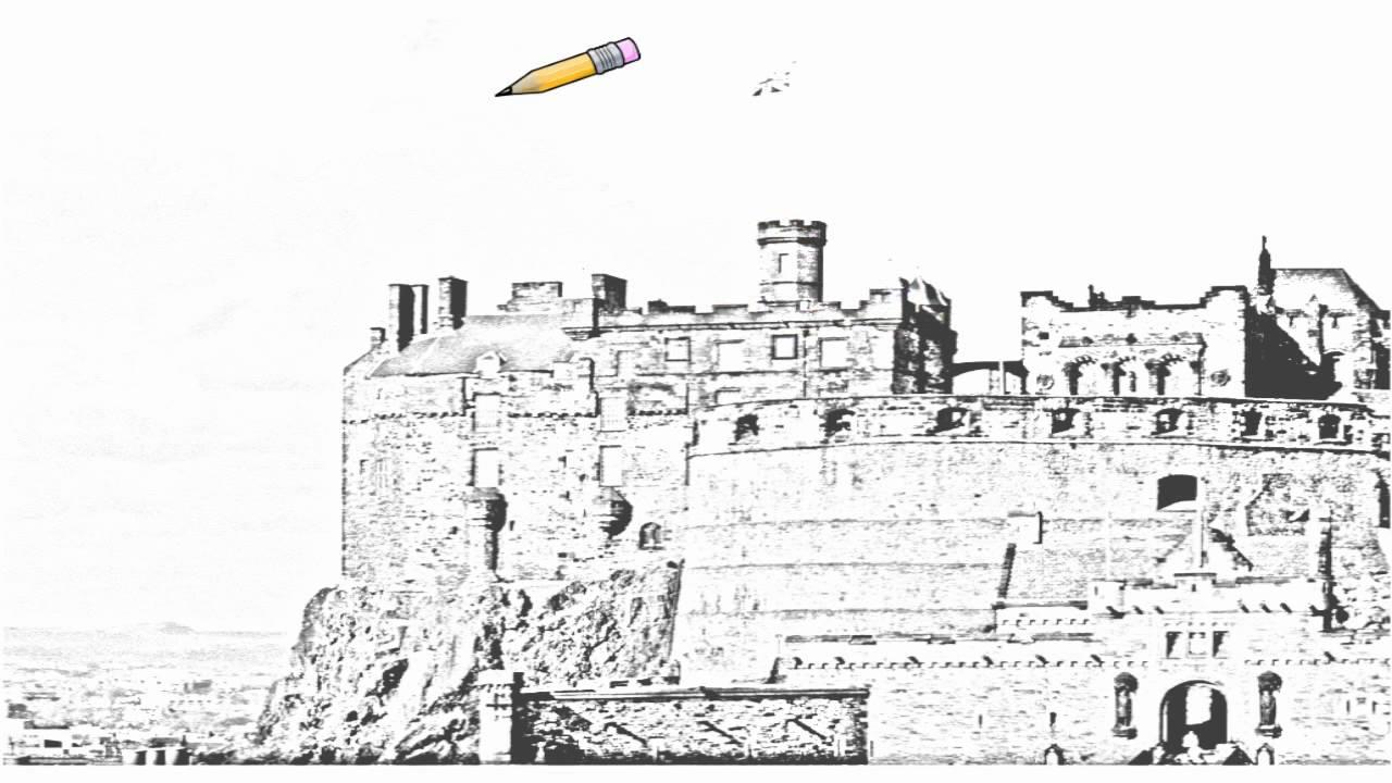 Auto Draw 2 Edinburgh Castle Scotland Youtube