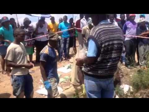 Illegal mining - Roodepoort Johannesburg