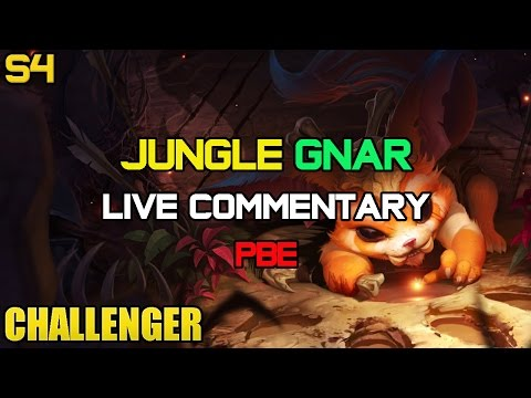 ✔ Challenger Jungle Bruiser Gnar Ep. 10   PBE   LIVE Gameplay Commentary   League of Legends