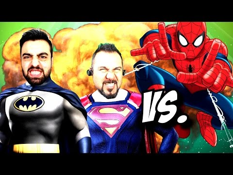 Batman Ümidi ve Superman Sesegel ! Spiderman ve Ekibine karşı !