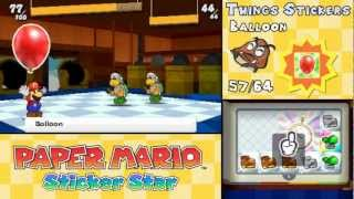 Paper Mario: Sticker Star - All 64 Things Animations