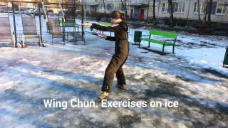 Wing Chun. Exercises on ice