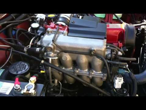 Fresh engine swap 1.6L 16 valve. second start in my Suzuki Jimny (samurai)