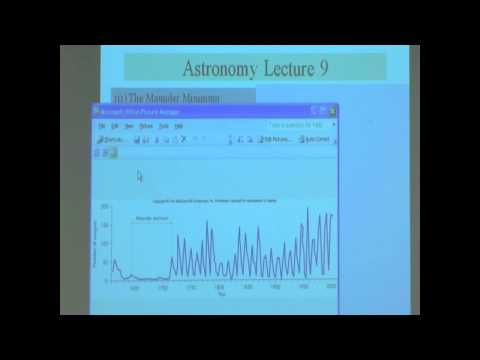 Lecture 9b (Maunder Minimum & Butterfly Diagram)