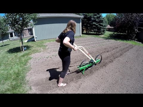 Corn Planting with Hoss Garden Seeder