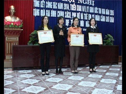 Hội LH phụ nữ quận KA tổng kết công tác Hội và phong trào phụ nữ năm 2014