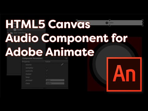 HTML5 Canvas Audio Component for Adobe Animate