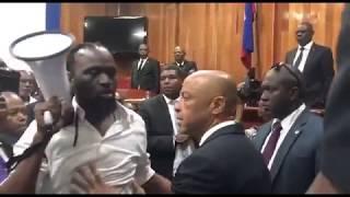VIDEO: Gwo batay kout pye nan Sena ayisyen an - ratifikasyon premye minis nome Jean Michel Lapin, 14 Mai 2019