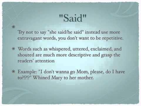 how to write a dialogue