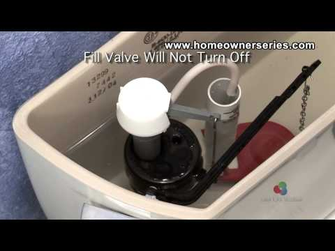 How to Fix a Toilet - Diagnostics - Fill Valve