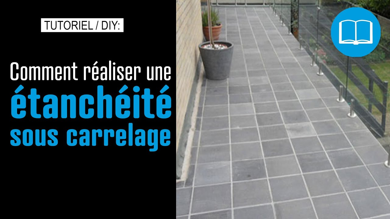 Etanch it sous carrelage terrasse piscine douche l for Pose de carrelage exterieur sur chape beton