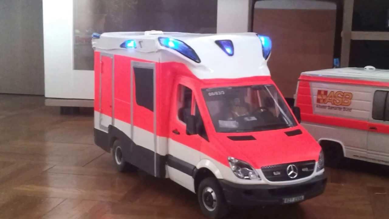 Rc Ambulace Tigis Rettungswagen Des Asb Youtube