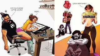 💕 Artist Illustrates Cute Comics About His Life With His Wife