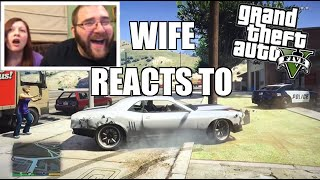 WIFE REACTS TO GTA 5 FUNNY MOMENTS and Brutal Kills! Hilarious PS4 Gameplay
