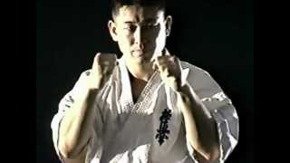Kyokushin kumite training
