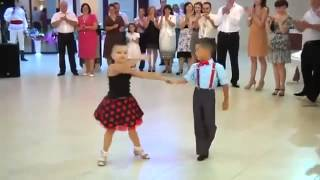 2 little Kids Ballroom dancing