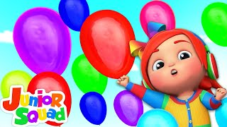 Balloon Song For Kids | Colors Song With Balloons | Nursery Rhymes & Baby Songs By Junior Squad