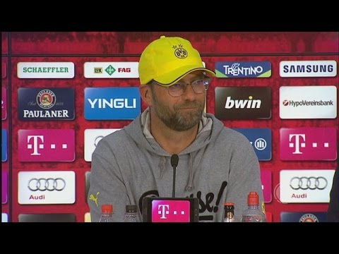 Pressekonferenz: Jürgen Klopp nach dem DFB-Pokalhalbfinale beim FC Bayern München (3:1 n.V.)