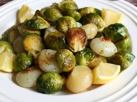 Brussels Sprouts Roasted with Cipollini Onions Recipe - Roasted ...