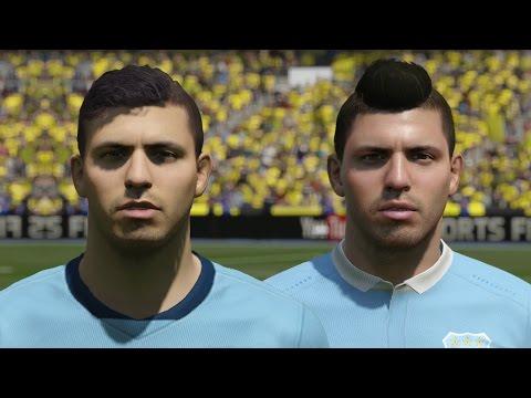 FIFA 16 vs FIFA 15 Faces Manchester City (Aguero, Sterling, Yaya Toure)