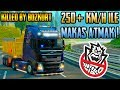 ✂️250 KM/H İLE MAKAS ATMAK !✂️   Euro Truck Simulator 2   TruckersMP   SINIRLARI ZORLAMAK !