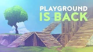 PLAYGROUND IS BACK AND THERE IS A RARE BUG! (Fortnite Battle Royale)
