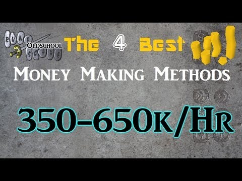 [2014] 4 Different Money Making Guides all Over 350k-650k/hr!-Oldschool 2007 Runescape