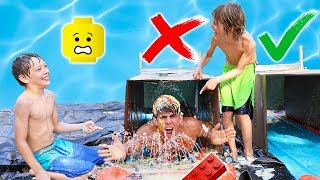 DO NOT Slip n Slide Through The WRONG MYSTERY BOX - LEGOS = PAiNFUL!