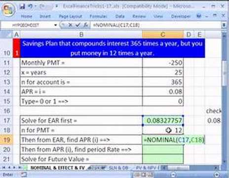 Excel Finance Trick 9: Daily Interest But Monthly Deposits?!