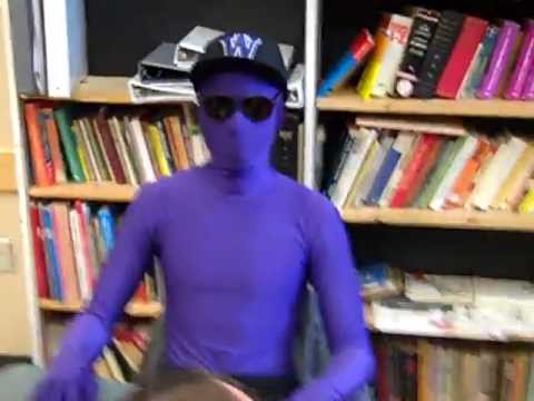 Last day as a freshman ;) Purple Morph Suit