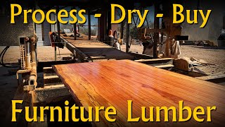 How Professionals Process and Dry Furniture Grade Lumber