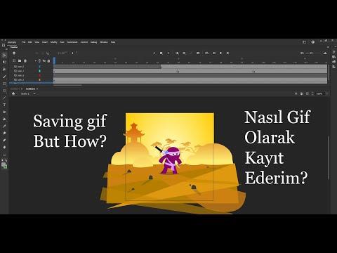 Adobe Animate de gif olarak kayıt almak. (How can I exporting gif on Adobe Animate )