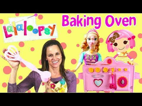 Lalaloopsy Baking Oven Real Cookies and Cake With Disney Princess Anna Frozen Doll De la Hornada