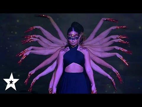 AMAZING Female Dance Group Get Golden Buzzer On Arab's Got Talent 2019   Got Talent Global