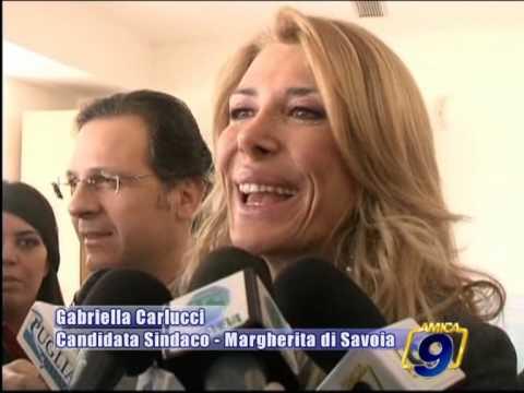 MARGHERITA DI SAVOIA | L'on Carlucci si presenta alla citta'