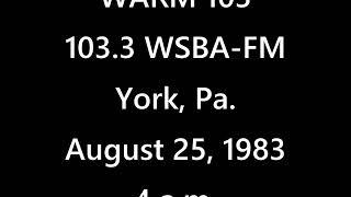 """download lagu Wsba-fm """"warm 103"""" York, Pa. 1983 gratis"""