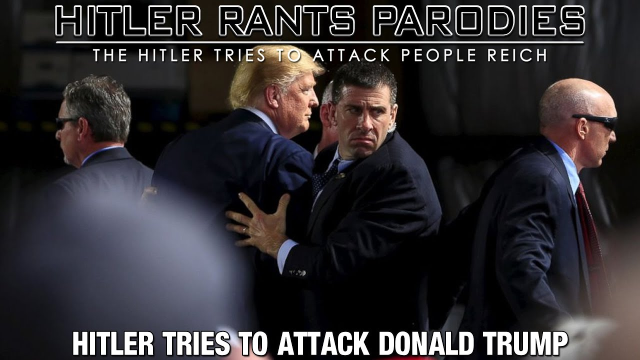 Hitler tries to attack Donald Trump