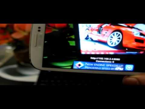 Making samsung galaxy s3 a CCTV camera or web cam or spy cam
