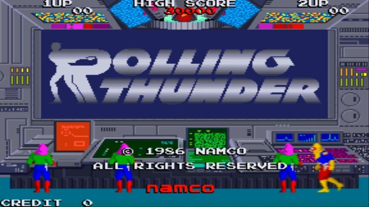 rolling thunder 1 arcade gameplay playthrough longplay